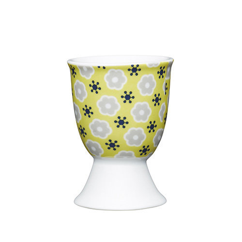 Kitchen Craft - Porcelain Egg Cup - Floral Yellow Porcelain