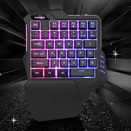One-Handed Mechanical Keyboard Left Hand Game Keypad for Game LOL/PUBG/  Fortnite