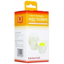 Set Of 2 Microwave Egg Boilers - Kitchen Craft -  microwave egg set kitchen craft 2 boilers