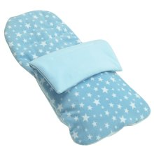 Fleece Footmuff Compatible With Pericles Urban - Light Blue Star