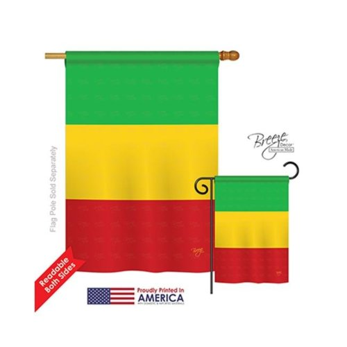 Breeze Decor 08312 Mali 2-Sided Vertical Impression House Flag - 28 x 40 in.
