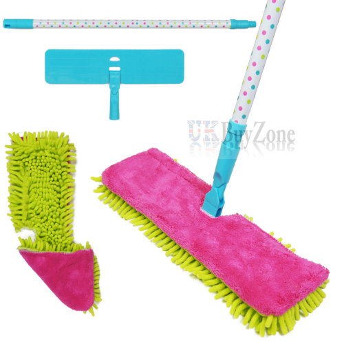 Double - Sided Microfiber Floor Mop Sweeper with Extendable Handle