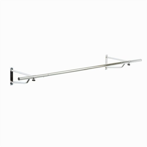 Chrome Plated Wall Mounted Garment Clothes Rail
