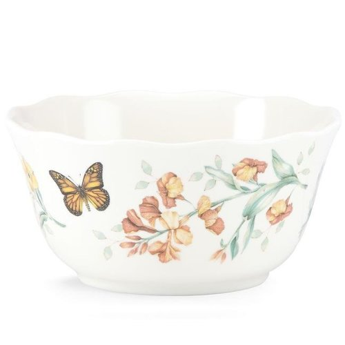 Lenox 855594 Butterfly Meadow Melamine Dinnerware All Purpose Bowl, 16 oz