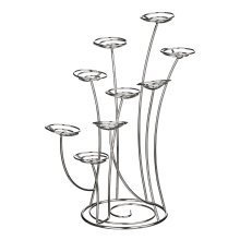 Swirl Cake Stand, 9 Cups, Chrome