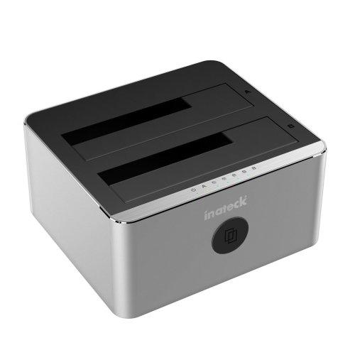 Inateck Aluminum USB 3.0 to SATA Dual-Bay USB 3.0 Hard Drive Docking Station