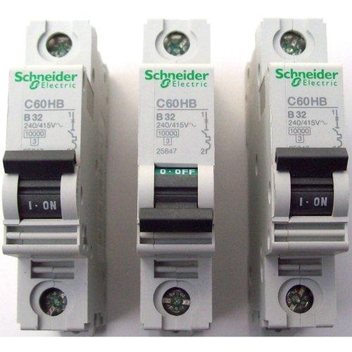 Schneider Electric C60HB 132 240/415V 25847 Circuit Breaker  New