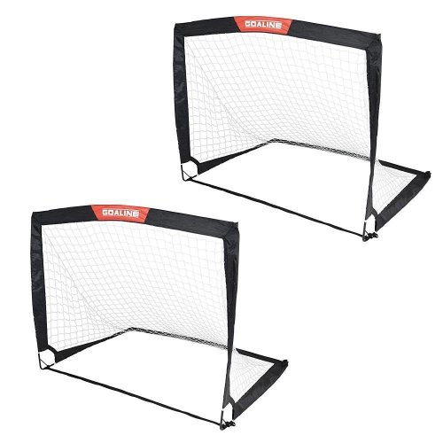 Toyrific Goalline Pop-Up Sports Soccer Football Goal With Bag Set of 2 WB-TY5866