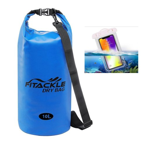 Fitackle Dry Bag,10L Waterproof Bags with Phone Dry Bag and Long Adjustable Shoulder Strap for...