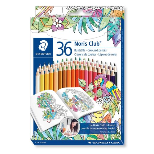 Staedtler 144 Noris Club Coloured Pencil - Assorted Colours, Pack of 36