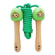 "Jump Rope Childrens Skipping Rope(78.74"")Wood Handle"