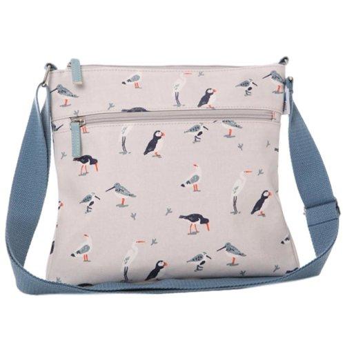 Birds Crossbody Shoulder Bag RSPB Cream Puffin Wading Bird Gulls Puffins Seagull