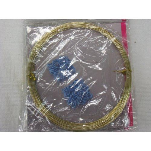 Efco 1 mm x 10 m Aluminium Anodised Round Wire, Gold