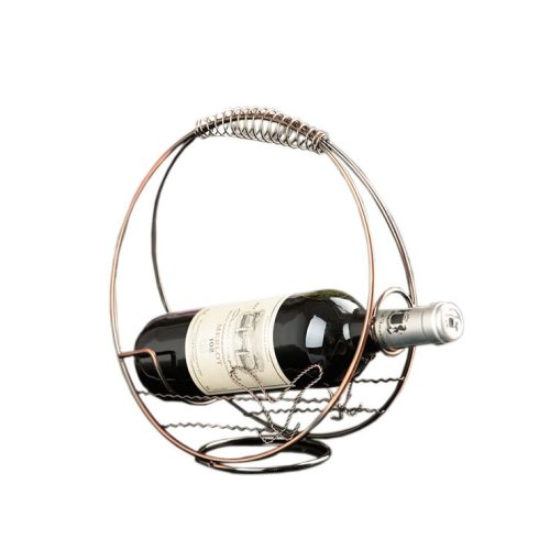 [Roundness] Ironwork Creative Wine Rack Storage Organizer Display Holder Bronze