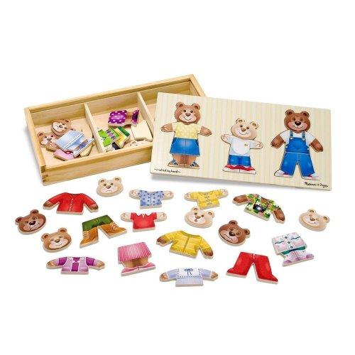 Melissa & Doug 13770 Wooden Bear Family Dress-Up Puzzle