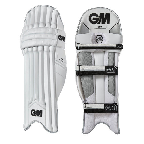 Gunn & Moore 2018 808 Cricket Batting Pads Leg Guards White/Black