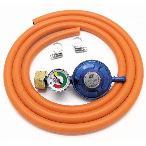 Igt Calor Gas 4.5 Gas Regulator + Pressure Gauge & 1 Mt Hose+Clips 5 Y Warranty
