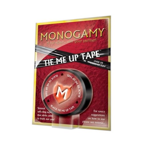 Monogamy Bondage Tape For Restraint Play With Non-adhesive Materials In Black