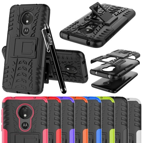 For Moto G7 Power ShockProof Hybrid Case Cover