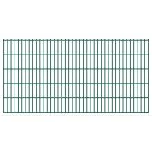 vidaXL 2D Garden Fence Panels 2008x1030 mm 42 m Green