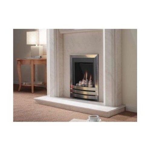 Designer Fire - Flavel FSRPU0MN Silver Windsor Slimline Contemporary Gas -MC