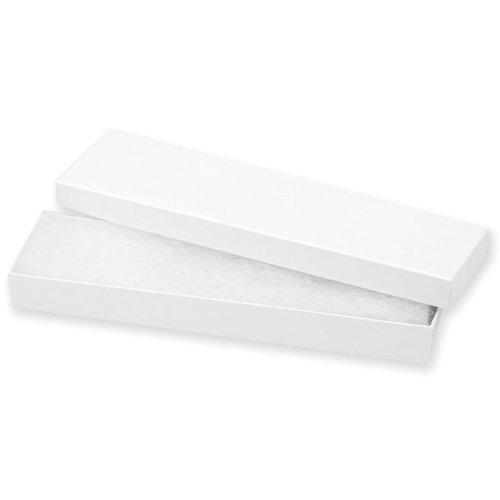 "Jewelry Boxes 8""X2.125""X.875"" 6/Pkg-White"