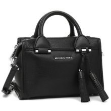 Michael Kors Geneva Large Leather Satchel - Black - 30F6STXS1L-001