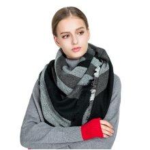 Women Long Winter Warm Cotton Scarf