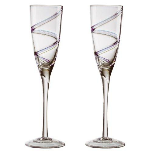 Anton Studio Arc Champagne Flutes, Set of 2