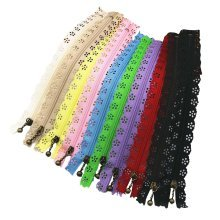 A Set of 10 Different Colors Lace Zippers for Clothing/Purse/Bag