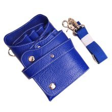 Hair Scissors Bag Hair Durable Comb Package Hair Stylist Pockets, Blue