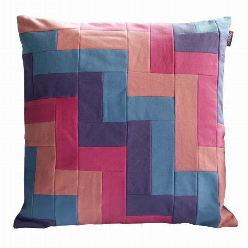 Handmade Patchwork Decorative Multicolored Cushion Throw Pillows Fills Included