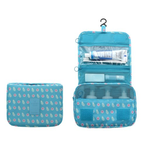 5f7d731cb14b 2017 New Hanging Toiletry Bag Bathroom Organizer Travel Nylon Portable  Cosmetic Bag by 90 Points for Women and Men, 8 Colors (BLUE PINEAPPLE)