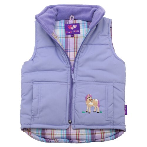 Lambland Girl's Embroidered Horse Gilet Body Warmer