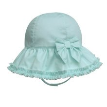 Summer Fashion Princess Ruffles Basin Children Hat Of The Girls  (Pink Green)