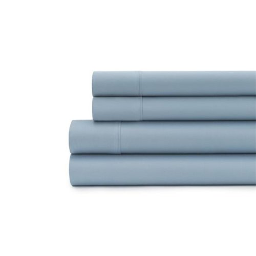 Baltic Linen 0361129600 300 Thread Count Solid Sateen Pillow Case Set  Silver - King