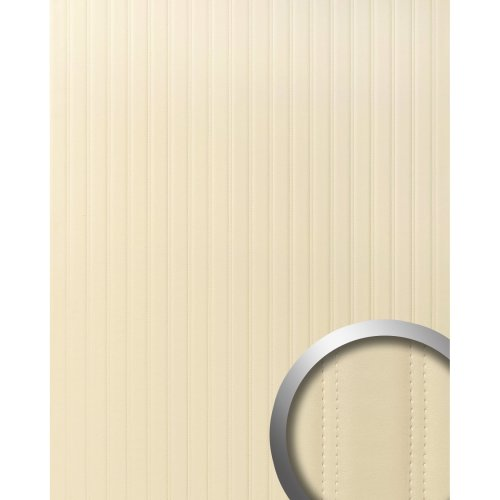 WallFace 18602 LOUNGE Wall panel adhesive leather quilted design creme 2.60 sqm