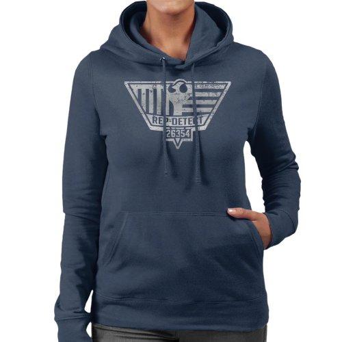 Blade Runner Inspired Rep Detect Logo Women's Hooded Sweatshirt