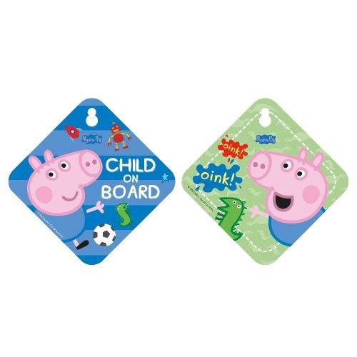 George From Peppa Pig Child On Board Car Window Sign Safety & Awareness