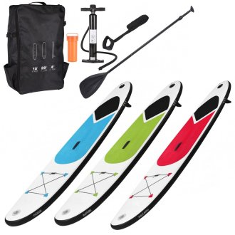 Inflatable 305 cm SUP Surf Board with Adjustable Paddle, Ankle Strap, Pump & Carry Bag