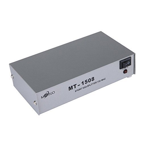 Eazy2hD 8 Port VGA Video Splitter Switch Box Sharing 1 PC to 8 Monitors Support Bandwidth at 150MHz 1 in 8 out VS029
