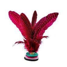 2 Pcs High-grade Feather Kick Shuttlecock Chinese Jianzi Sport Wine RED