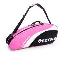 Single Shoulder Waterproof And Dustproof Racket Bag 6 Racquet Bag,Pink