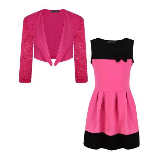 Girls Bow Dress Bundle with Jacket