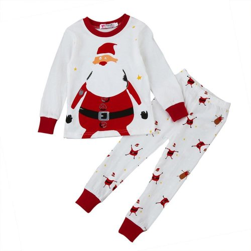 Christmas clothes Newborn Infant Baby Boy Girl Tops+Pants Christmas Home Outfits Pajamas Set drop ship