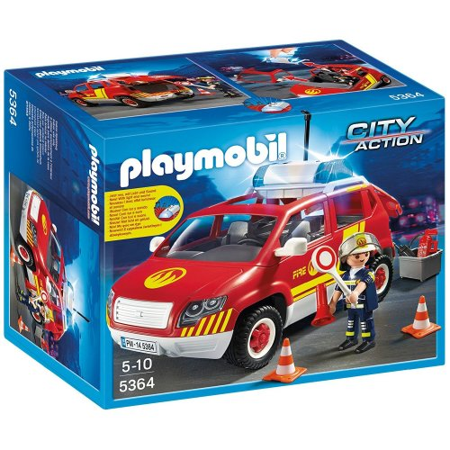 Playmobil City Action 5364 Fire Brigade Chiefs Car with Lights & Sound