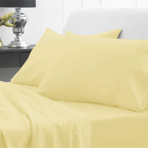 Waterproof Fitted Sheet - Double - Yellow