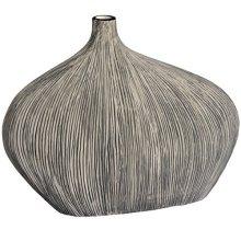 Modern Stone Style Flat Broad Asymmetrical Vase