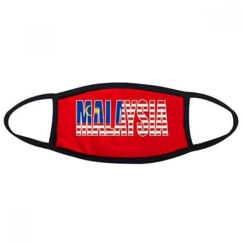 Malaysia Country Flag Name Mouth Face Anti-dust Mask Anti Cold Warm Washable Cotton Gift