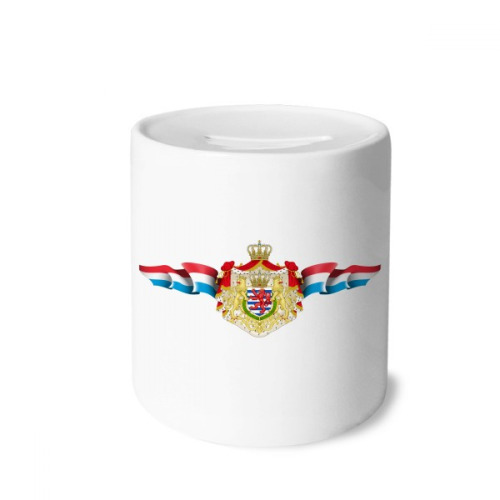 Luxembourg National Emblem Country Symbol Money Box Saving Banks Ceramic Coin Case Kids Adults